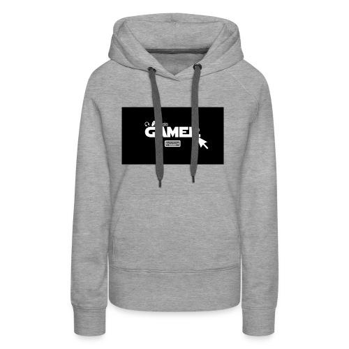 gamer - Felpa con cappuccio premium da donna