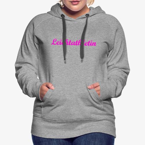 Leichtathletin - Frauen Premium Hoodie