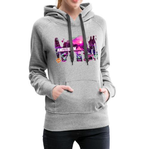 amsterdam love - Vrouwen Premium hoodie