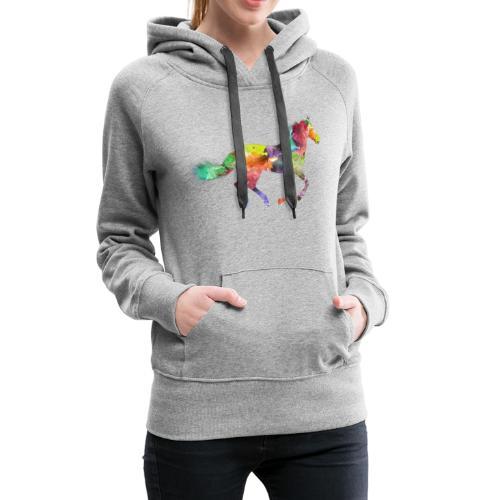 Rainbow Pferd - Frauen Premium Hoodie