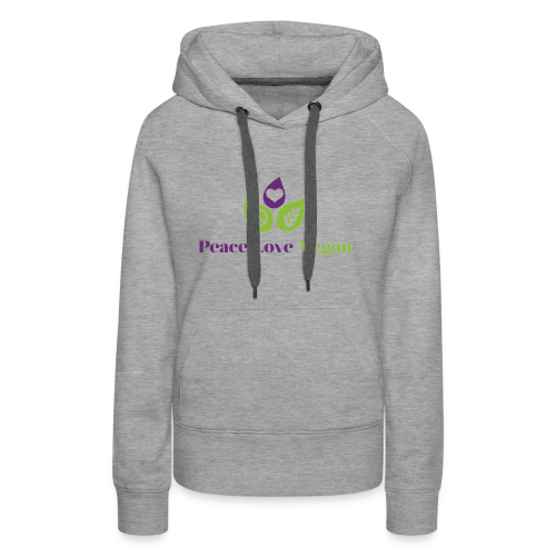 Peace Love Vegan - Women's Premium Hoodie