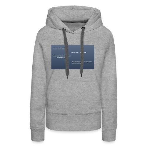 Running joke t-shirt - Women's Premium Hoodie