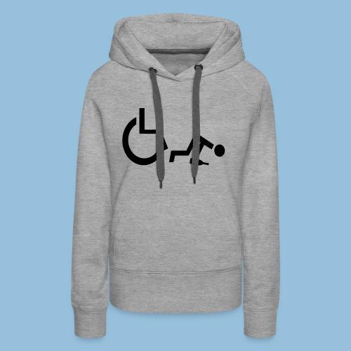 Drunkenwheelchair2 - Vrouwen Premium hoodie