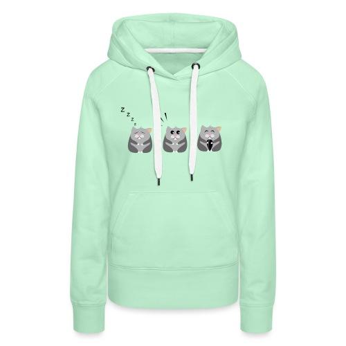 Drei Hamster in einer Reihe - Frauen Premium Hoodie