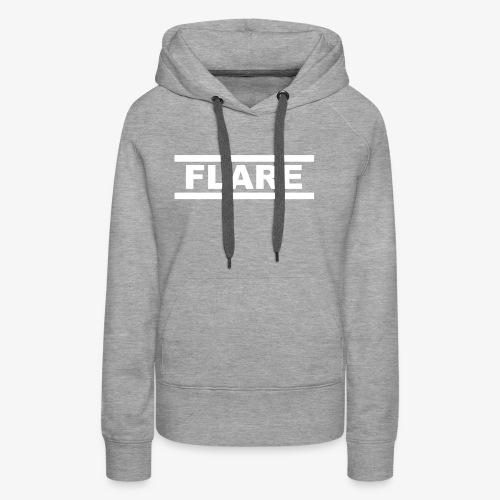 Black Hoodie - White logo - FLARE - Vrouwen Premium hoodie