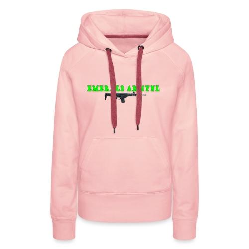 EMERALDARMYNL LETTERS! - Vrouwen Premium hoodie