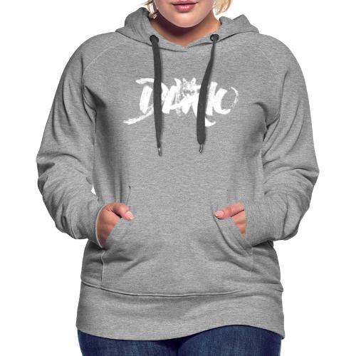 illustration logo blanc - Sweat-shirt à capuche Premium pour femmes