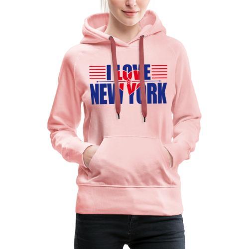 love new york - Sweat-shirt à capuche Premium pour femmes