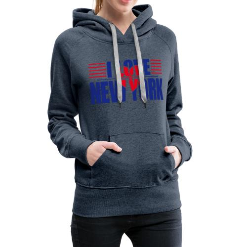 love new york - Sweat-shirt à capuche Premium pour femmes