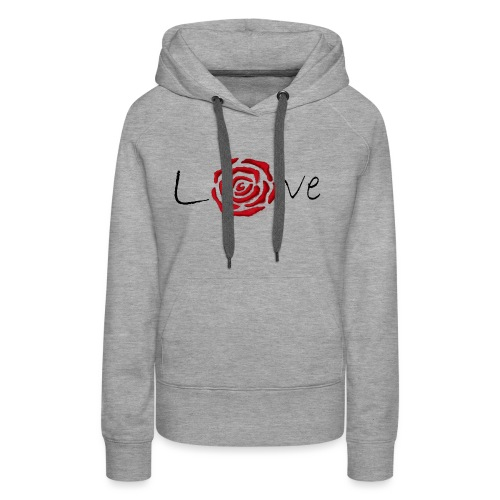 Rose-Love - Sweat-shirt à capuche Premium pour femmes