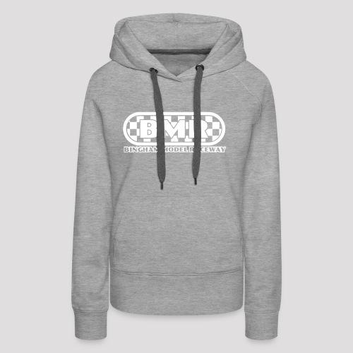 All white BMR logo - Women's Premium Hoodie