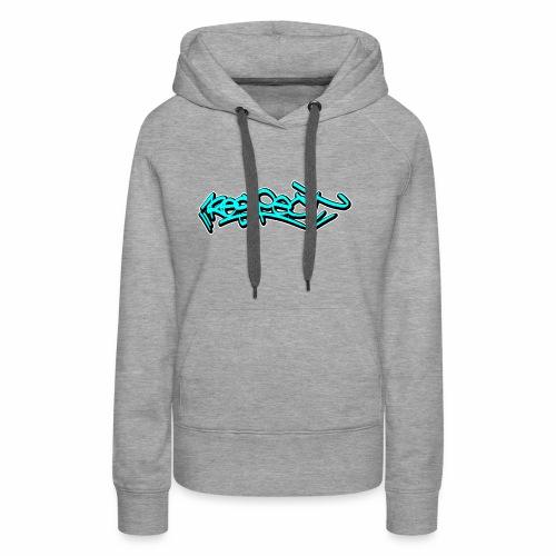 respect graffiti tag - Frauen Premium Hoodie