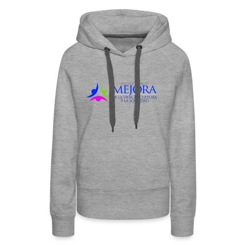 Logo Colorido Alargado - Sudadera con capucha premium para mujer