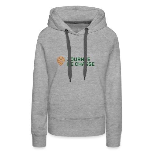 Journée de chasse - Logo couleur - Sweat-shirt à capuche Premium pour femmes