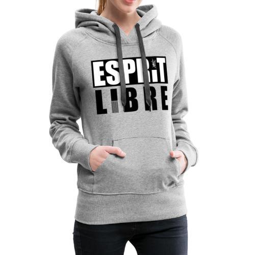 esprit libre - Sweat-shirt à capuche Premium pour femmes