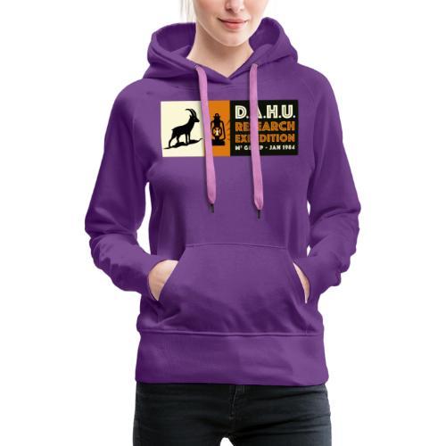 Expedition Chasse au Dahu - Sweat-shirt à capuche Premium pour femmes