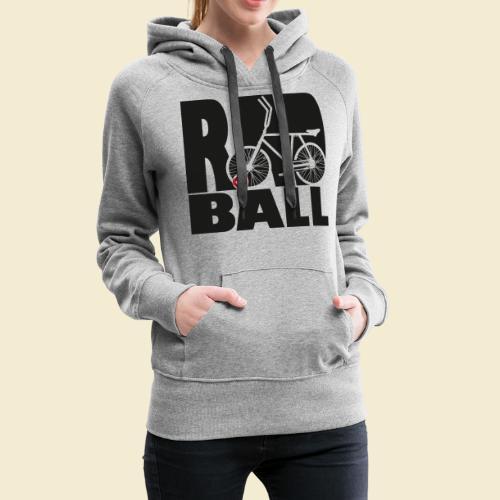 Radball | Typo Black - Frauen Premium Hoodie