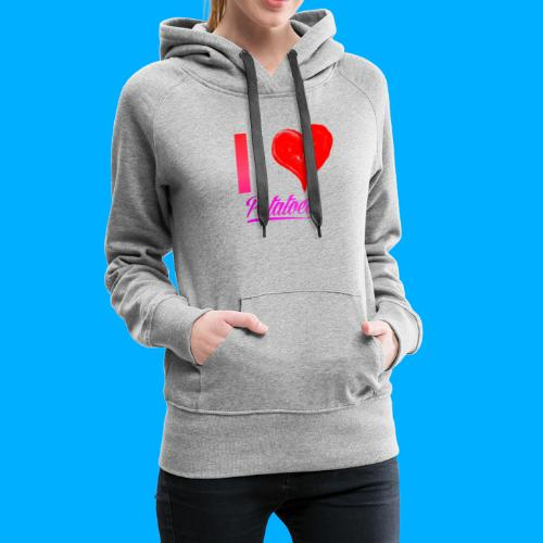 I Heart Potato T-Shirts - Women's Premium Hoodie