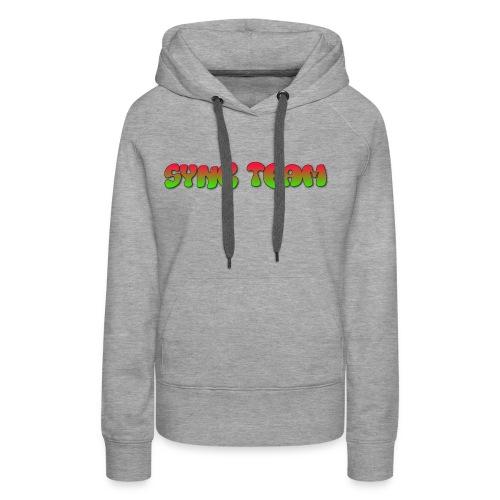 vêtement avec text SYNC TEAM - Sweat-shirt à capuche Premium pour femmes