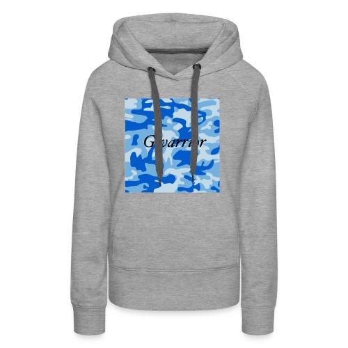 GWARRIOR BLUE CAMMO TSHIRT - Women's Premium Hoodie