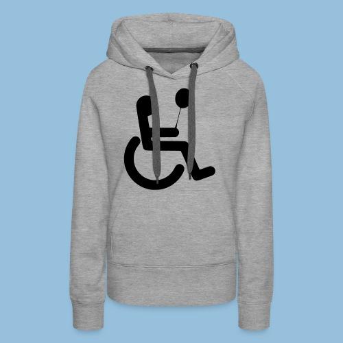 Baloonwheelchair2 - Vrouwen Premium hoodie