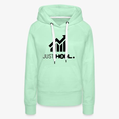 HODL-btc-just-black - Women's Premium Hoodie