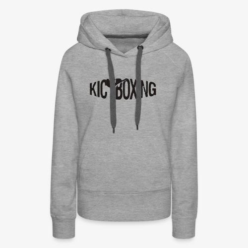 LOGO KICKBOXING - Frauen Premium Hoodie