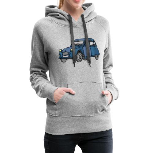 Blaue Ente 2CV - Frauen Premium Hoodie
