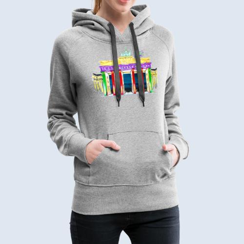 """Berlin """"Brandenburger Tor"""" PopArt Design - Frauen Premium Hoodie"""