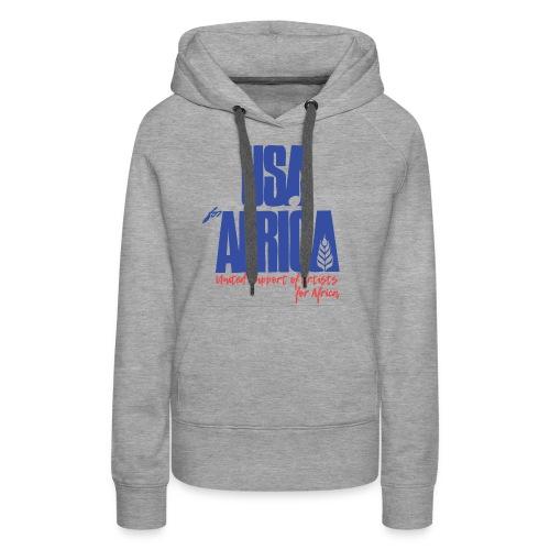 USA 4 africa - Sweat-shirt à capuche Premium pour femmes