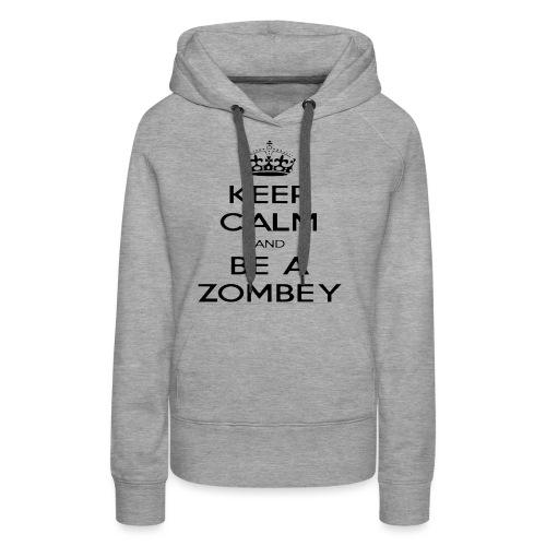MiningZombey Merchstore logo v1 schwarz - Frauen Premium Hoodie