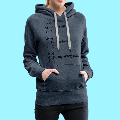 neck back anxiety attack - Women's Premium Hoodie