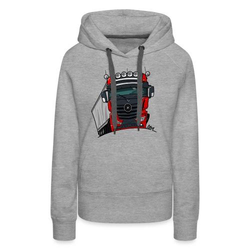 0807 M truck zwart rood - Vrouwen Premium hoodie