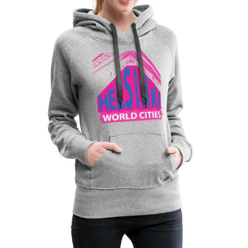Helsinki2 pink2 - Women's Premium Hoodie