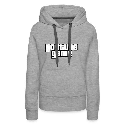 Youtube Game - Sweat-shirt à capuche Premium pour femmes