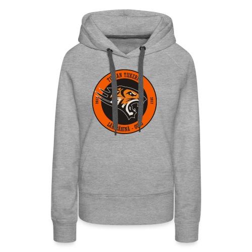 Tuiran Tiikerit, värikäs logo - Naisten premium-huppari