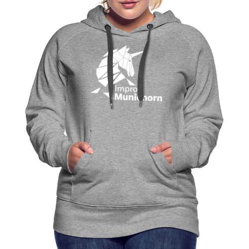 ImproMunichorn Logo bw - Frauen Premium Hoodie