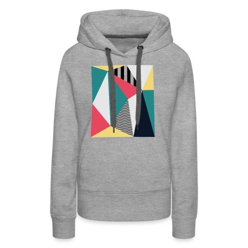 Triangulos - Sudadera con capucha premium para mujer
