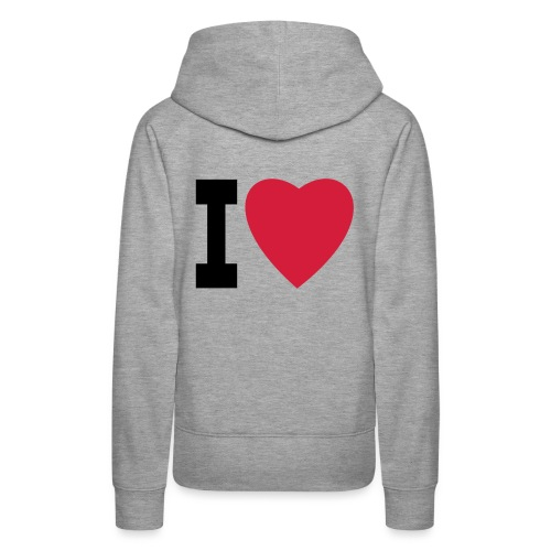 create your own I LOVE clothing and stuff - Women's Premium Hoodie