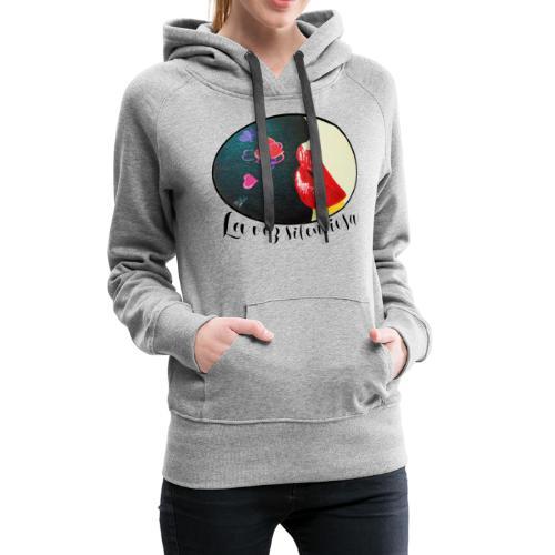 La Voz Silenciosa - Besos - Sudadera con capucha premium para mujer