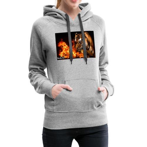 Tiger Flame - Dame Premium hættetrøje
