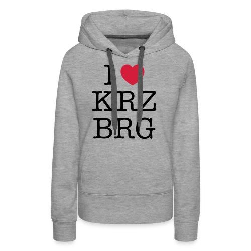 I love KRZBRG - Frauen Premium Hoodie