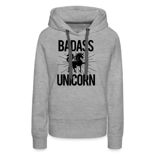 Badass Unicorn - Women's Premium Hoodie