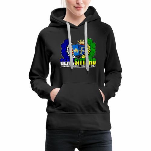 Confrérie depuis 1997 - Sittard & Genk - Sweat-shirt à capuche Premium pour femmes