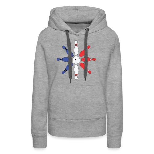 Roue de Quilles - Sweat-shirt à capuche Premium pour femmes