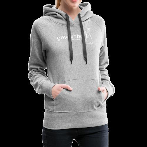 geweihbär - weiss - Frauen Premium Hoodie