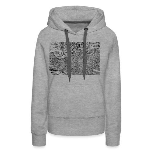 Kat kop (zwart) - Vrouwen Premium hoodie