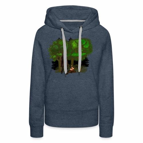 Bigfoot Campfire Forest - Women's Premium Hoodie