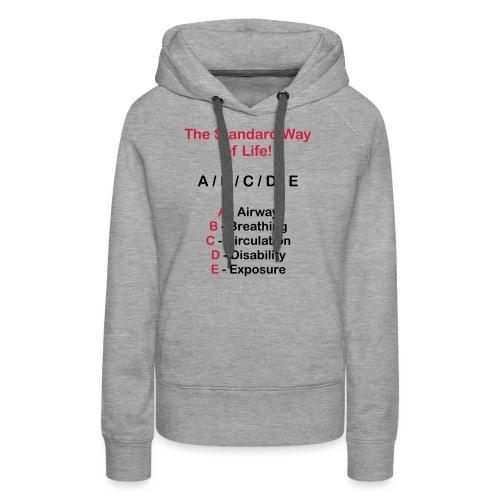 Rettungsdienst ABC Schema - Frauen Premium Hoodie