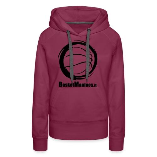 Basket Maniacs - Felpa con cappuccio premium da donna